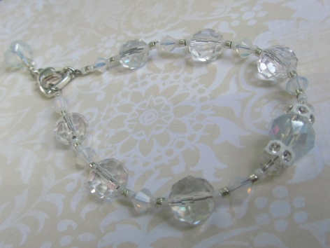 This bold style bracelet is perfect for brides. It is heirloom quality, and wearable even after your big day is over.