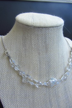 Strands may be twisted to make this DNA twist necklace.