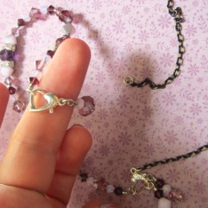 Use a hook-up style clasp to finish your necklace.