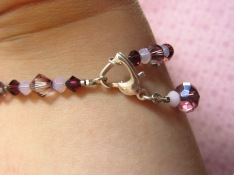Finish the bracelet by attaching the loose end to your hook-up clasp.