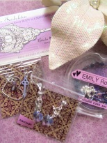 Emily selected the nightshade purple color palette - my favorite palette as a designer. This delicate base set includes a custom assortment of charms, clasps and strands inspired by the nightshade flower.